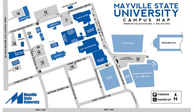 Mayville State University Campus Map